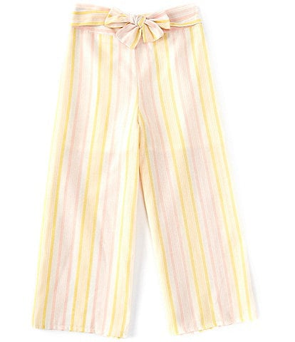 GB GB Girls Big Girls 7-16 Stripe Tie-Waist Cropped Pant