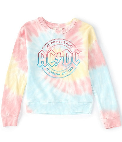 GB GB Girls Big Girls 7-16 Tie Dye AC/DC Sweatshirt