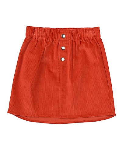GB GB Girls Little Girls 2T-6X Button-Front Corduroy Skirt
