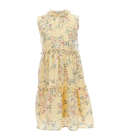 GB GB Girls Little Girls 2T-6X Floral Print Tiered Dress