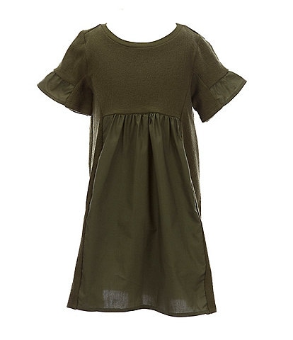 GB GB Girls Little Girls 2T-6X Mixed-Media Shift Dress