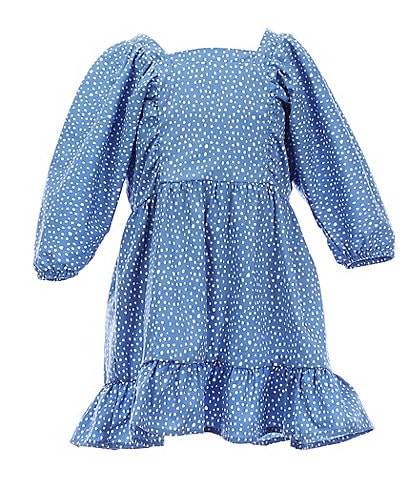 GB GB Girls Little Girls 2T-6X Puff-Sleeve Dotted A-Line Dress