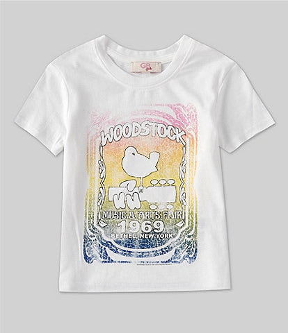 GB GB Girls Little Girls 2T-6X Short-Sleeve Woodstock Graphic Tee