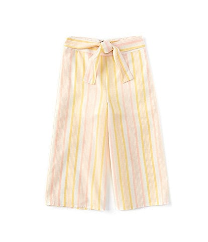 GB GB Girls Little Girls 2T-6X Stripe Tie-Waist Cropped Pant