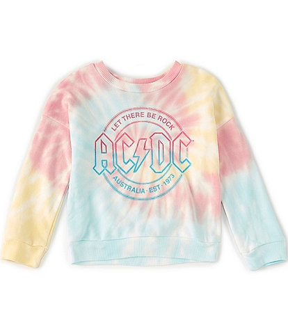 GB GB Girls Little Girls 2T-6X Tie Dye AC/DC Sweatshirt