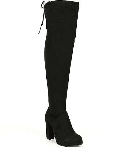 GB Get-Real Platform Stretch Microsuede Over-the-Knee Block Heel Boots