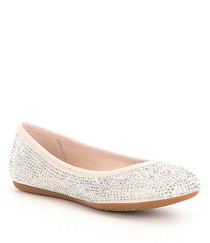 GB Girls' Jolly Girl Jeweled Ballet Flats Youth
