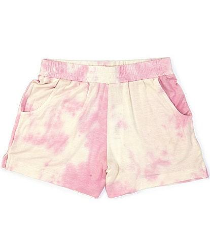 GB Girls Active Big Girls 7-16 Tie-Dye Knit Shorts
