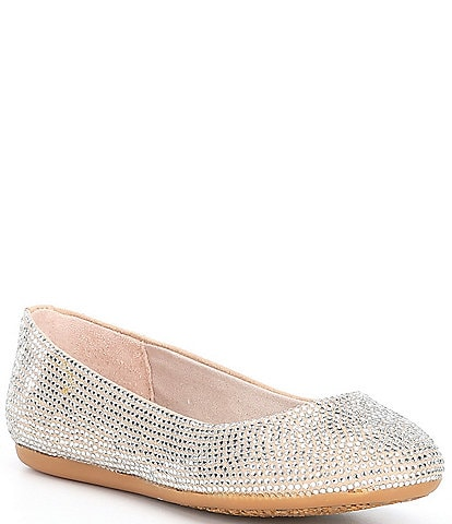 GB Girls' Addie-Girl Jeweled Ballet Flats Youth