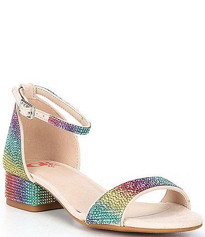 GB Girls' Amaze-Girl Jeweled Two Piece Sandals (Youth)