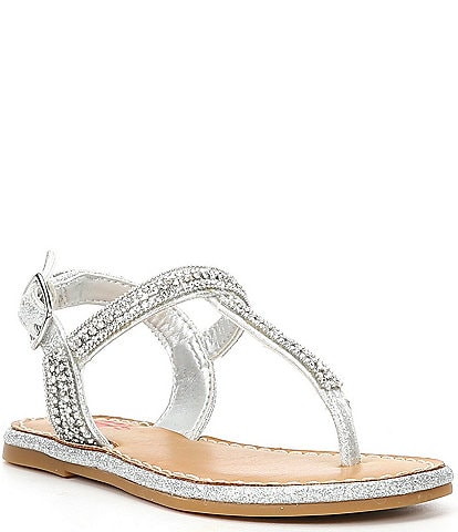 GB Girls' Aveee-Girl Bling T-Strap Flat Sandals (Youth)