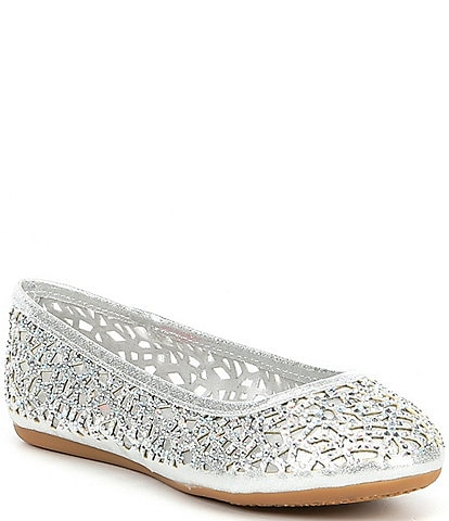 GB Girls' Bejeweled Flats Youth