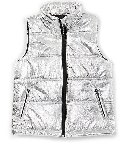 GB Girls Big Girls 7-16 Active Metallic Puffer Vest