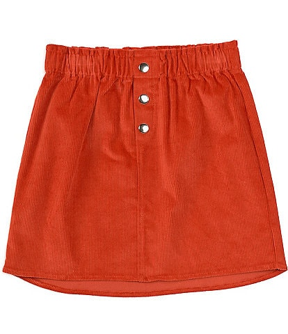 GB Girls Big Girls 7-16 Button Front Corduroy Skirt