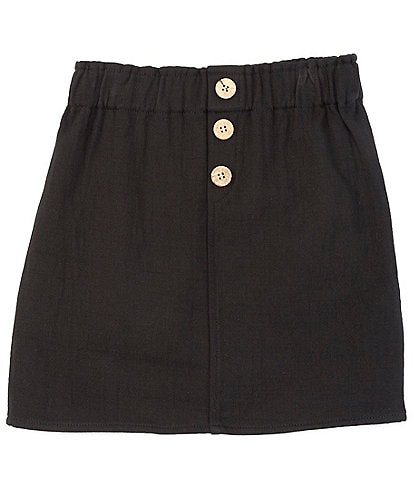 GB Girls Big Girls 7-16 Button Front Twill Skirt