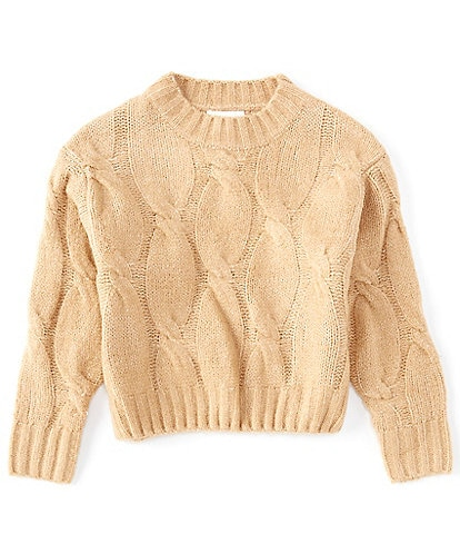 GB Girls Big Girls 7-16 Cable Knit Sweater