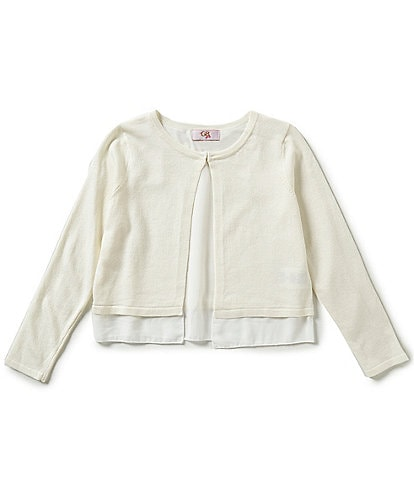 GB Girls Big Girls 7-16 Chiffon-Hemline Cardigan
