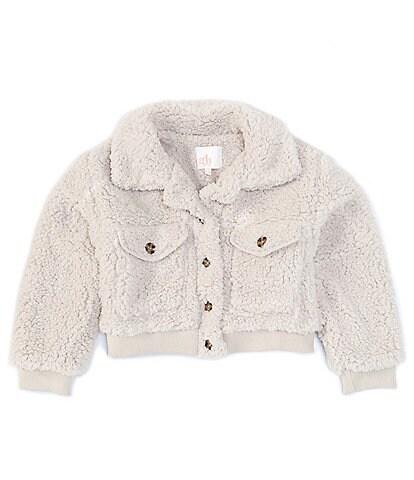 GB Girls Big Girls 7-16 Cropped Faux Sherpa Jacket