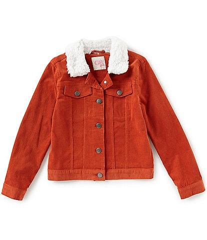 GB Girls Big Girls 7-16 Faux Sherpa Collared Corduroy Jacket