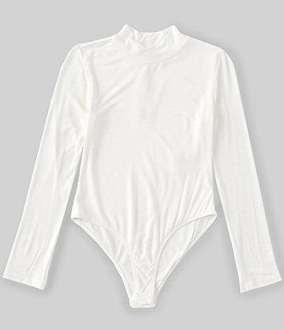 GB Girls Big Girls 7-16 Knit Mock Neck Bodysuit