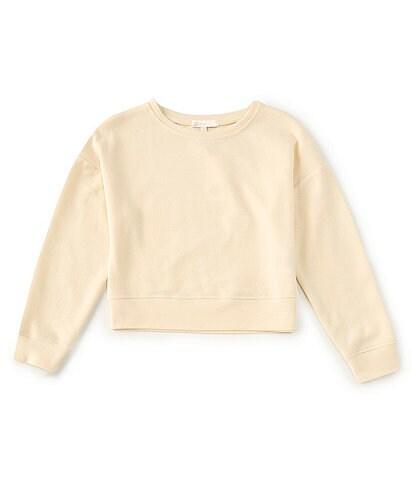 GB Girls Big Girls 7-16 Knit Oversized Sweatshirt