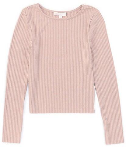 GB Girls Big Girls 7-16 Long Sleeve Ribbed Knit Tee