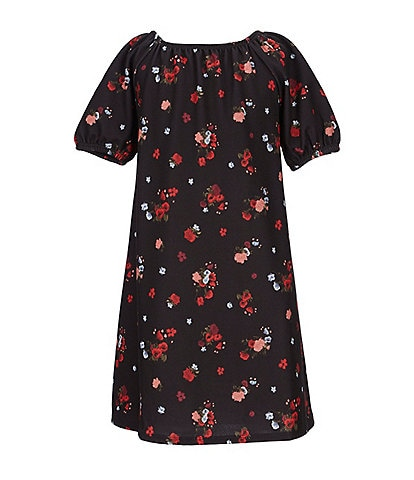 GB Girls Big Girls 7-16 Mini Me Collection Short-Sleeve Floral Shift Dress