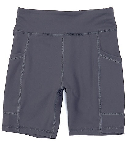 GB Girls Big Girls 7-16 Pocketed Bike Shorts