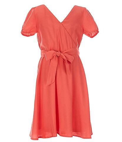 GB Girls Big Girls 7-16 Puff Sleeve Tie Waist Dress