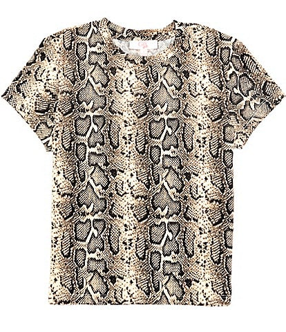 GB Girls Big Girls 7-16 Short-Sleeve Snake-Print Tee