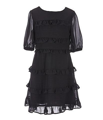 GB Girls Big Girls 7-16 Tiered Ruffle Dress