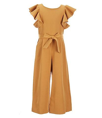 GB Girls Big Girls 7-16 Tiered Ruffle Sleeve Jumpsuit