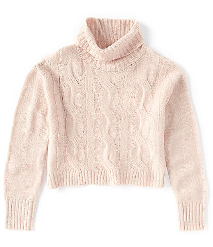 GB GB Girls Big Girls 7-16 Turtleneck Cable-Knit Sweater
