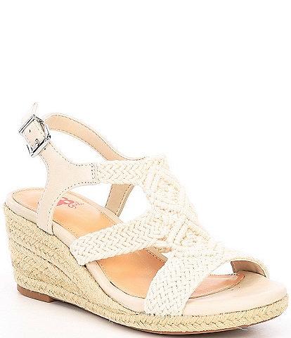 GB Girls' Cabana Macrame Wedge Sandals (Toddler)