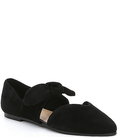 GB Girls' Clair-Girl Bow Tie Suede Casual Flat (Infant)