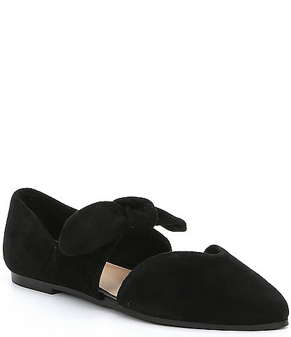 GB Girls' Clair-Girl Bow Tie Suede Casual Flats Youth