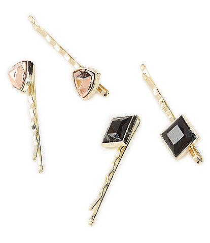 GB Girls Gold 4-Pack Jeweled Bobby Pins