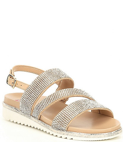 GB Girls' Haelee-Girl Rhinestone Sandals (Youth)