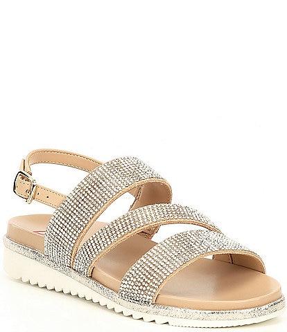 GB Girls' Haelee-Girl Suede Rhinestone Embellished Sandals (Toddler)
