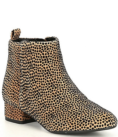 GB Girls' Jayden-Girl Leopard Print Suede Block Heel Booties (Toddler)