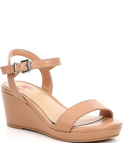 GB Girls' Juudeth-Girl Leather Wedge Sandals (Youth)
