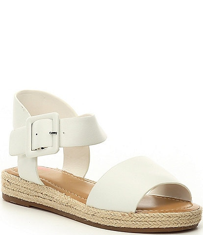 GB Girls' Kaygan-Girl Leather Two-Piece Espadrille Flat Sandals Youth
