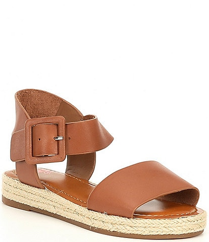 GB Girls' Kaygan-Girl Leather Two-Piece Espadrille Sandals Toddler