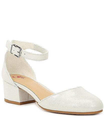 GB Girls' Lianna-Girl Shimmer Dress Heels (Toddler)