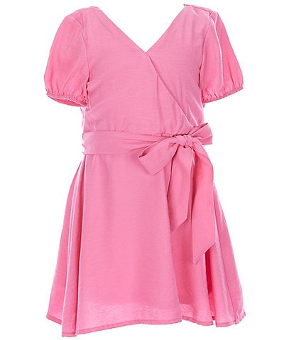 GB Girls Little Girls 2-6X Puff Sleeve Tie Waist Dress