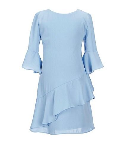 GB Girls Little Girls 2T-6X Asymmetrical Ruffle Shift Dress