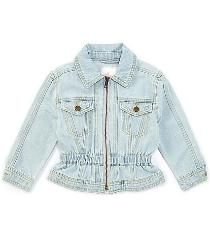 GB Girls Little Girls 2T-6x Cinched-Waist Denim Jacket