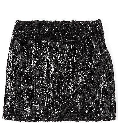 GB Girls Little Girls 2T-6X Knot Front Sequin-Embellished Mini Skirt