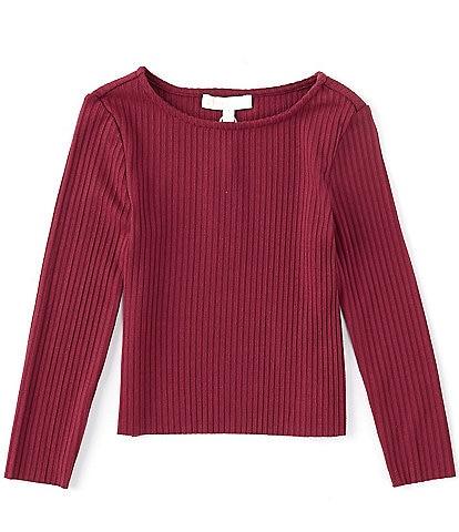 GB Girl's Little Girls 2T-6X Long Sleeve Basic Ribbed Knit Tee