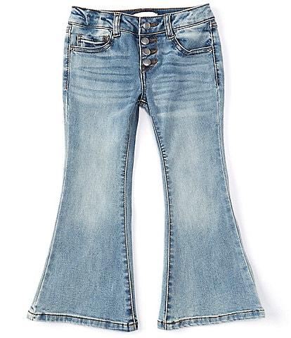 GB Girls Little Girls 2T-6X Quadruple-Button Flare Jeans